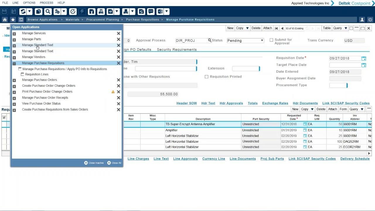 Deltek Costpoint ERP Software