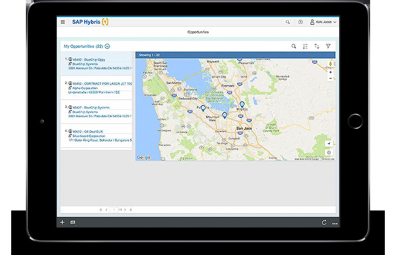 SAP SalesCloud User Experience Screenshot