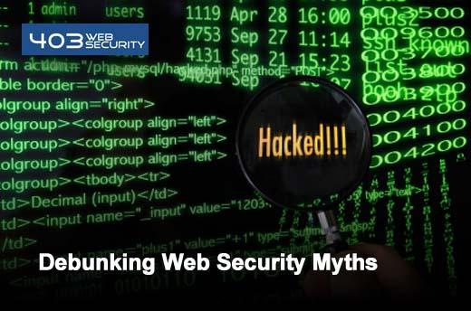Five Web Application Security Myths - slide 1