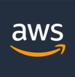 Amazon web services logo.