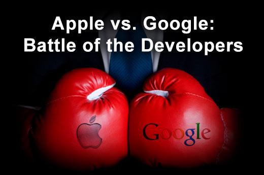 Apple Narrowly Edges Google for Mobile Developer Support - slide 1