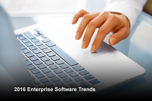 2016 Software Trends: The Evolution of Enterprise Software - slide 1
