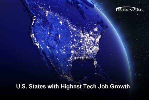 17 Fastest-Growing States for Tech Jobs - slide 1