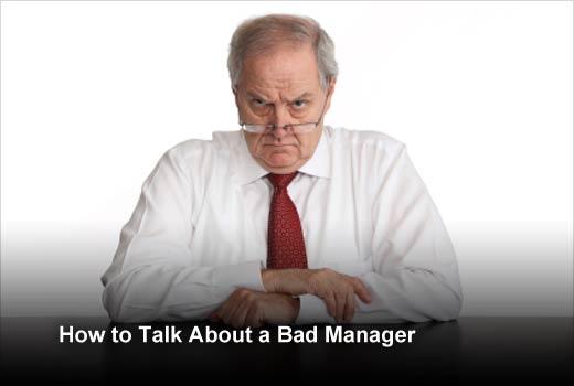 Job Interview Tips: Talking About a Horrible Boss - slide 1