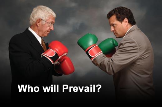 Google Versus Apple: The Big Showdown - slide 1