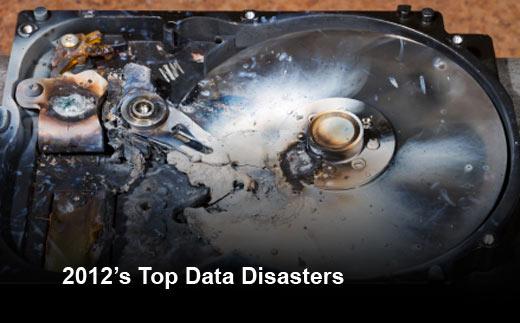 Top 10 Data Disasters of 2012 - slide 1