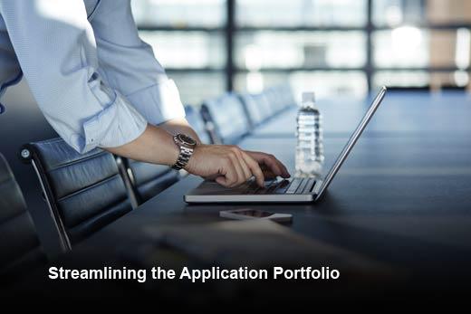 5 Steps to Rationalize Your Application Portfolios - slide 1
