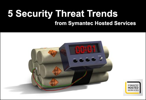 Symantec Hosted Services' Top 5 Security Threats - slide 1