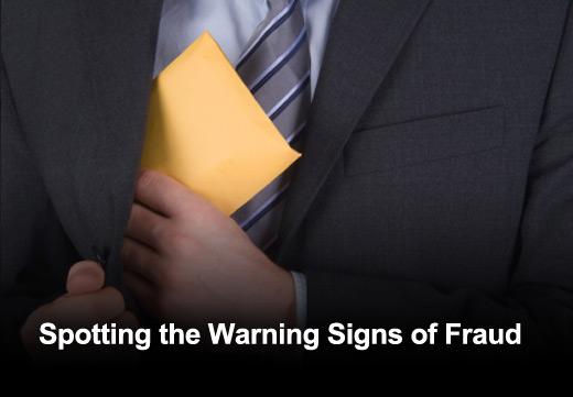 Ten Early Warning Signs of Fraud in Organizations - slide 1