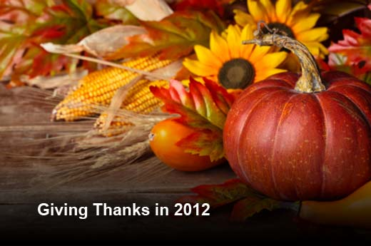 Top Ten IT Things to Be Thankful For in 2012 - slide 1