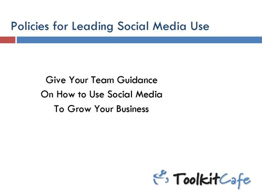 Five Best Practices on Social Media Use - slide 1
