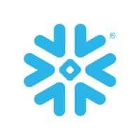 Snowflake data warehouse software logo.